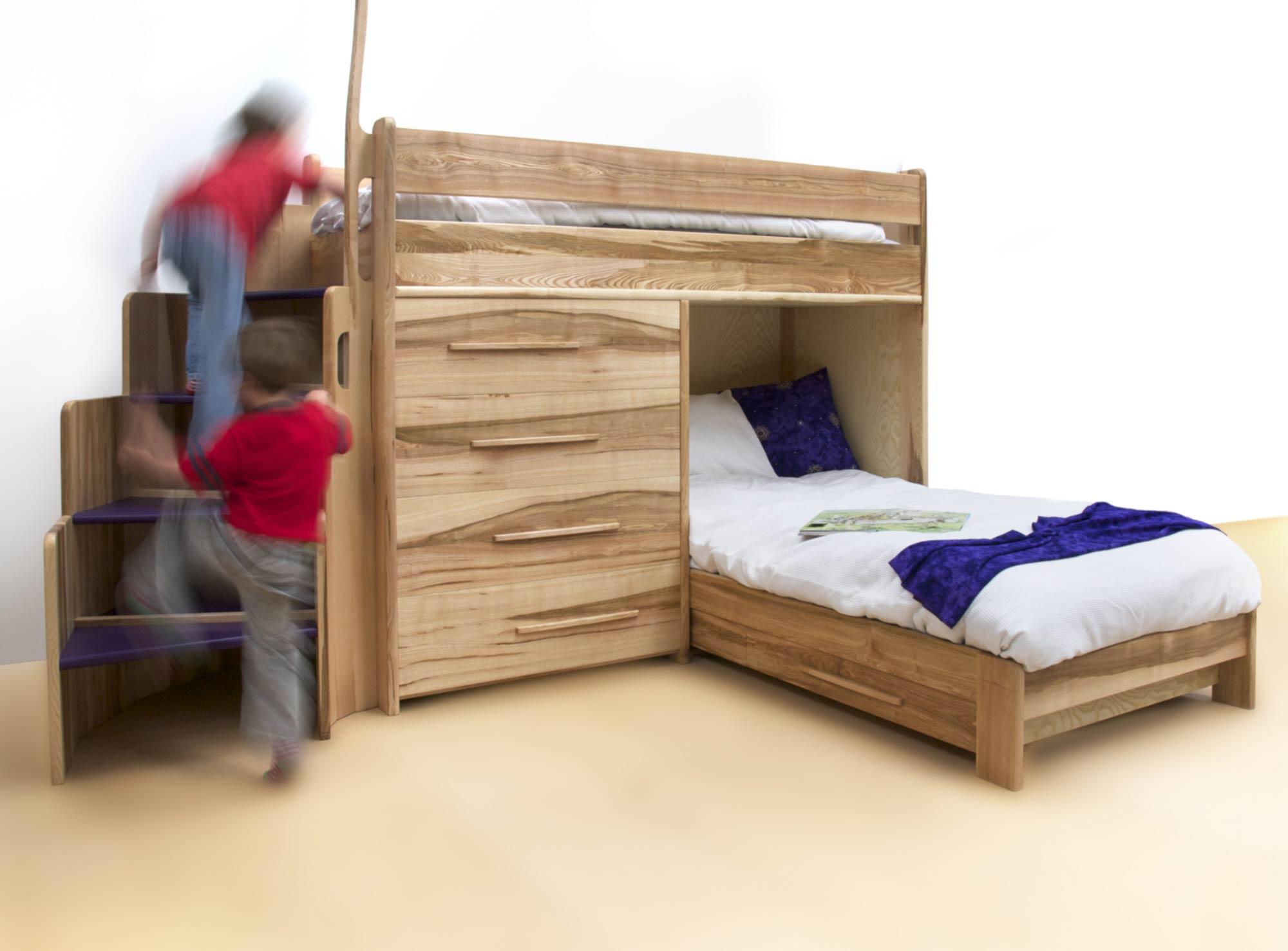 Bespoke Bunk Beds In Ash By Furniture Designer Daniel
