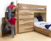 Bunk-beds with storage in ash