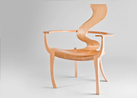 Sculpted occasional chair 'Andromeda'