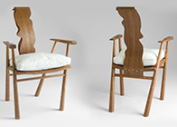 Bespoke High Back Chair in solid oak