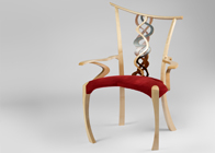 Handmade occasional chair in sycamore 'Perseus'