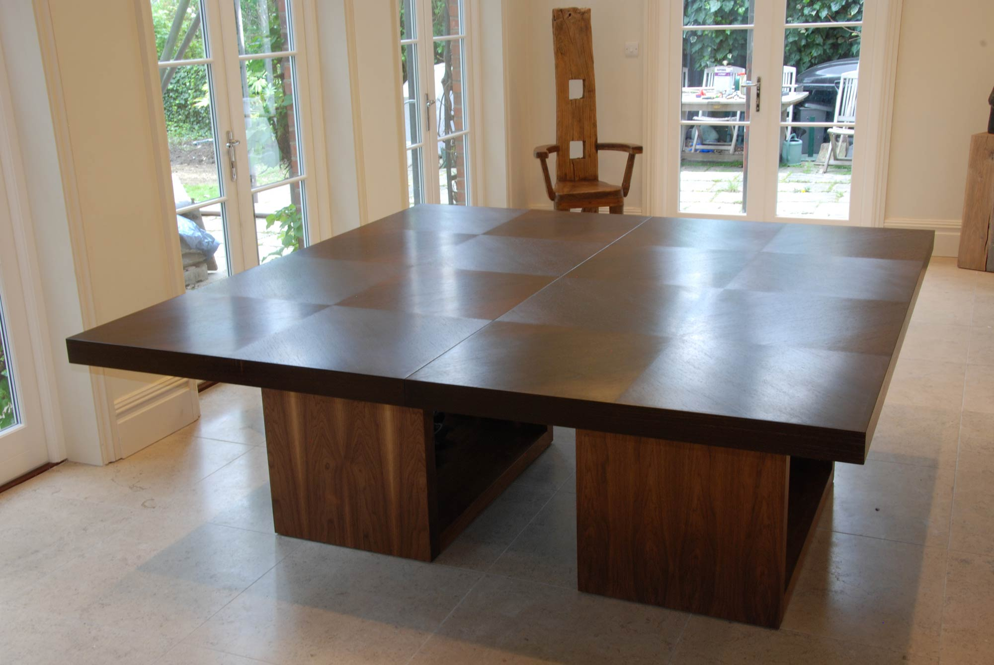 dining table in wenge  walnut  makers' eye - details