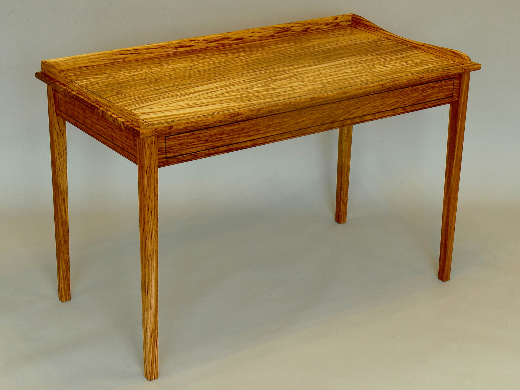 Writing Desk in oak & ebony