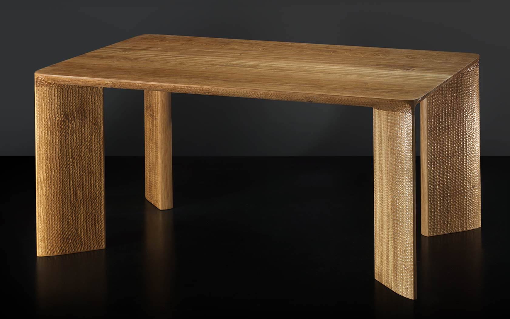 Bespoke two textures coffee table in oak makers 39 eye for Coffee table texture