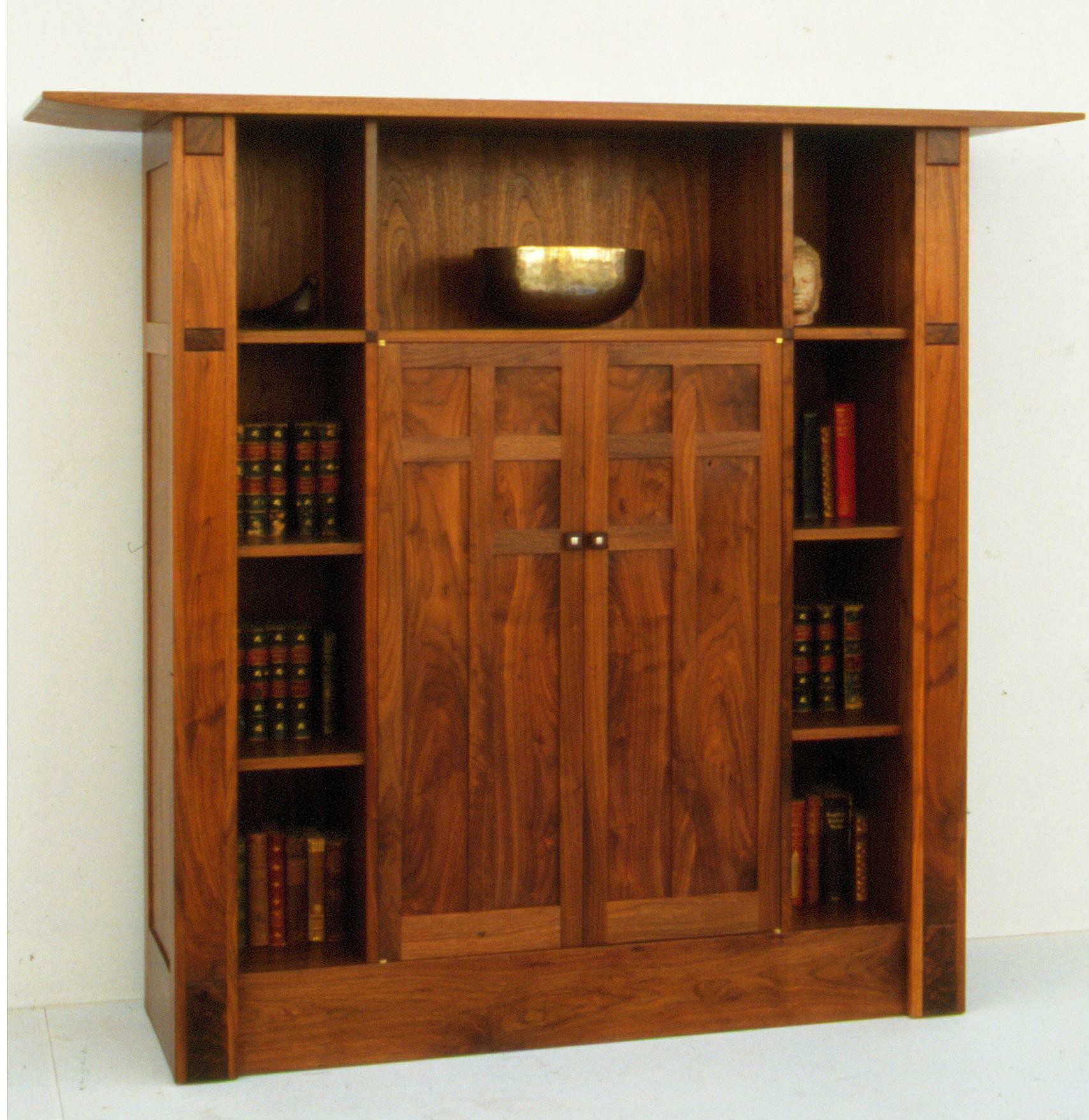 Bespoke Bookcase In English Walnut
