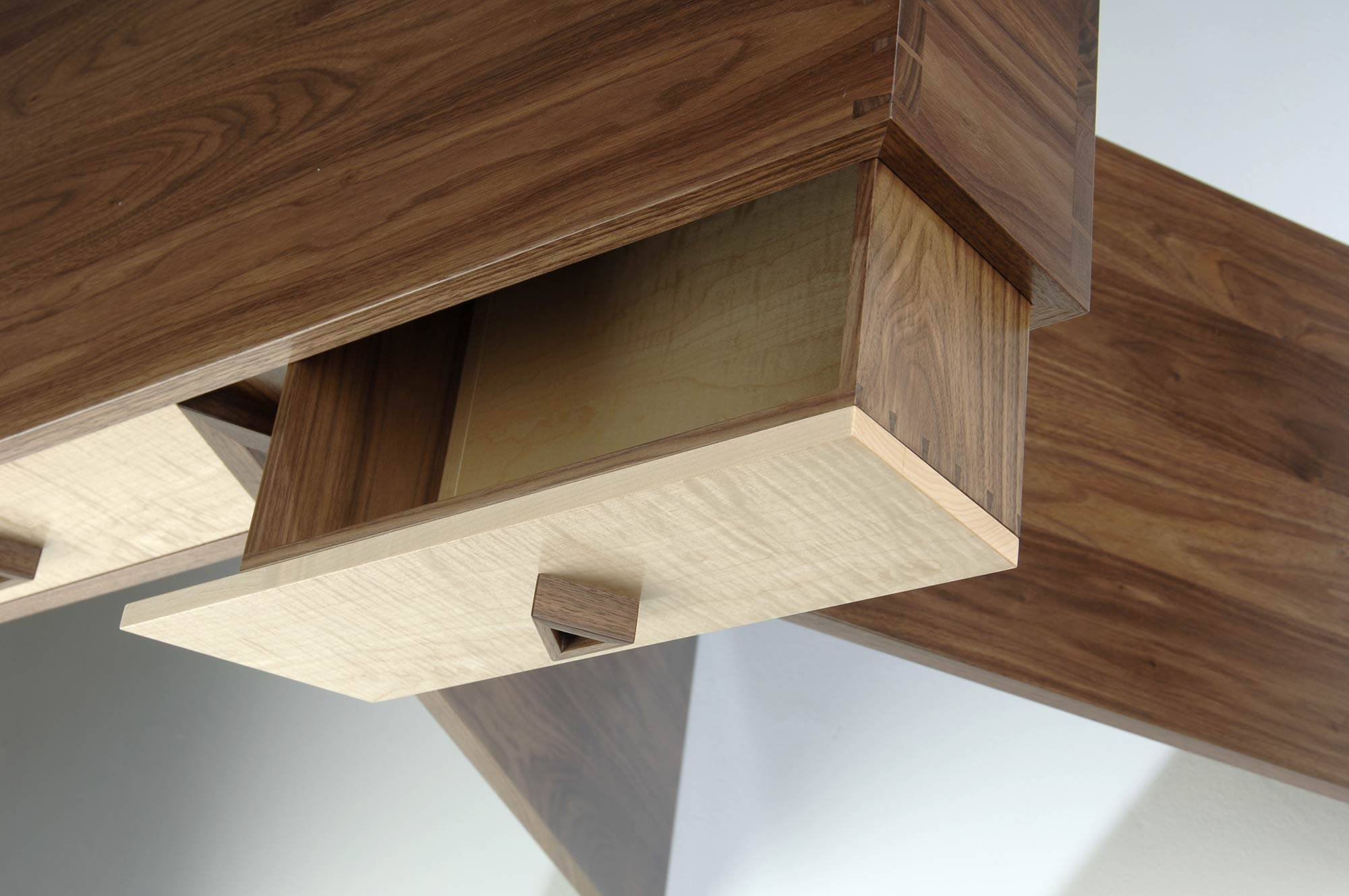 Console table in walnut maple makers eye details geotapseo Image collections