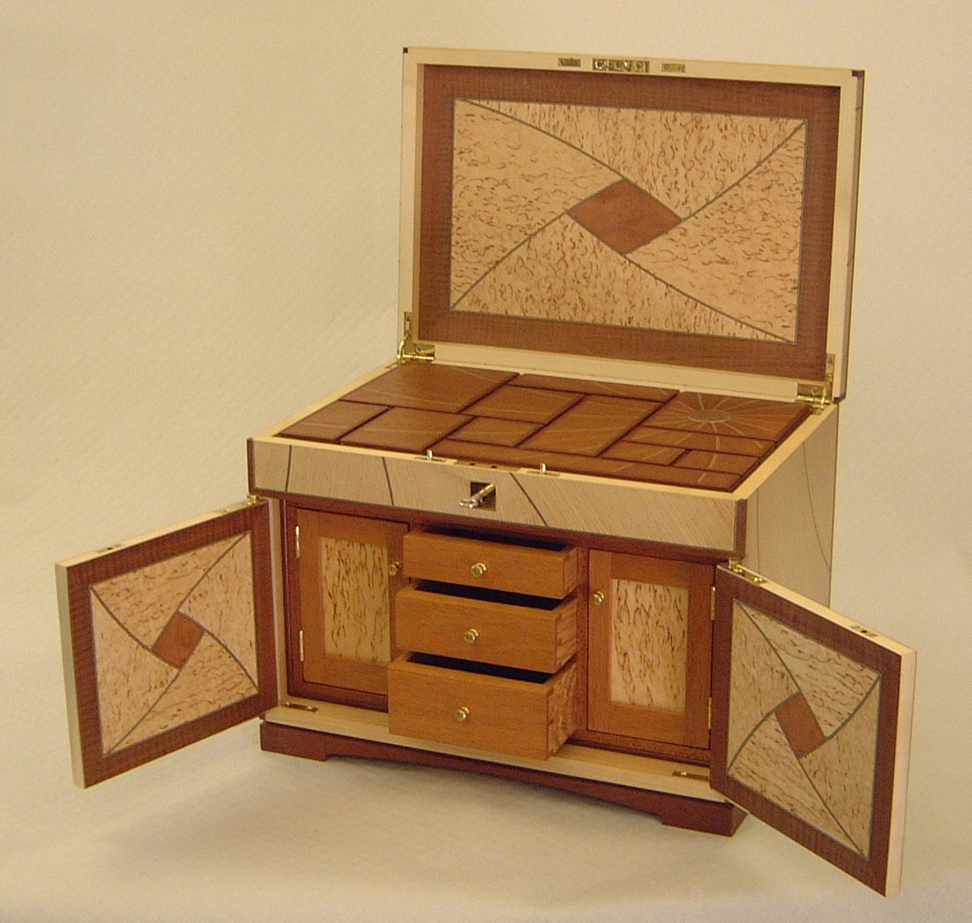 Bench design hidden compartment jewelry box plans for Furniture w hidden compartments