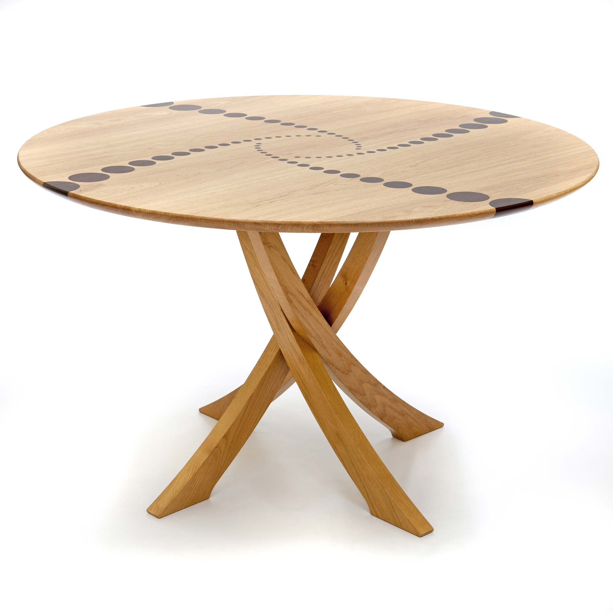 Bespoke circular dining table in oak makers 39 eye for Circular dining table