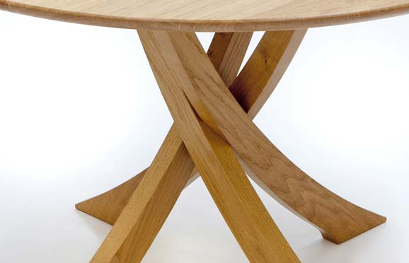 Dining table circular dining table hidden chairs for Round dining table with hidden chairs
