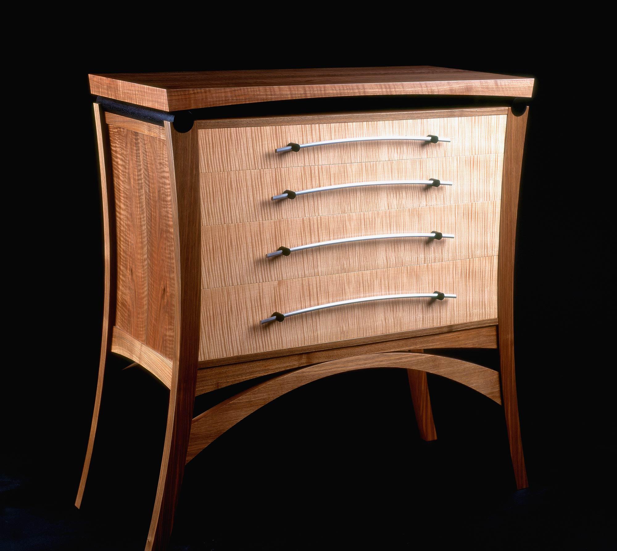 bespoke chest of drawers  walnut  oak   ripple sycamore