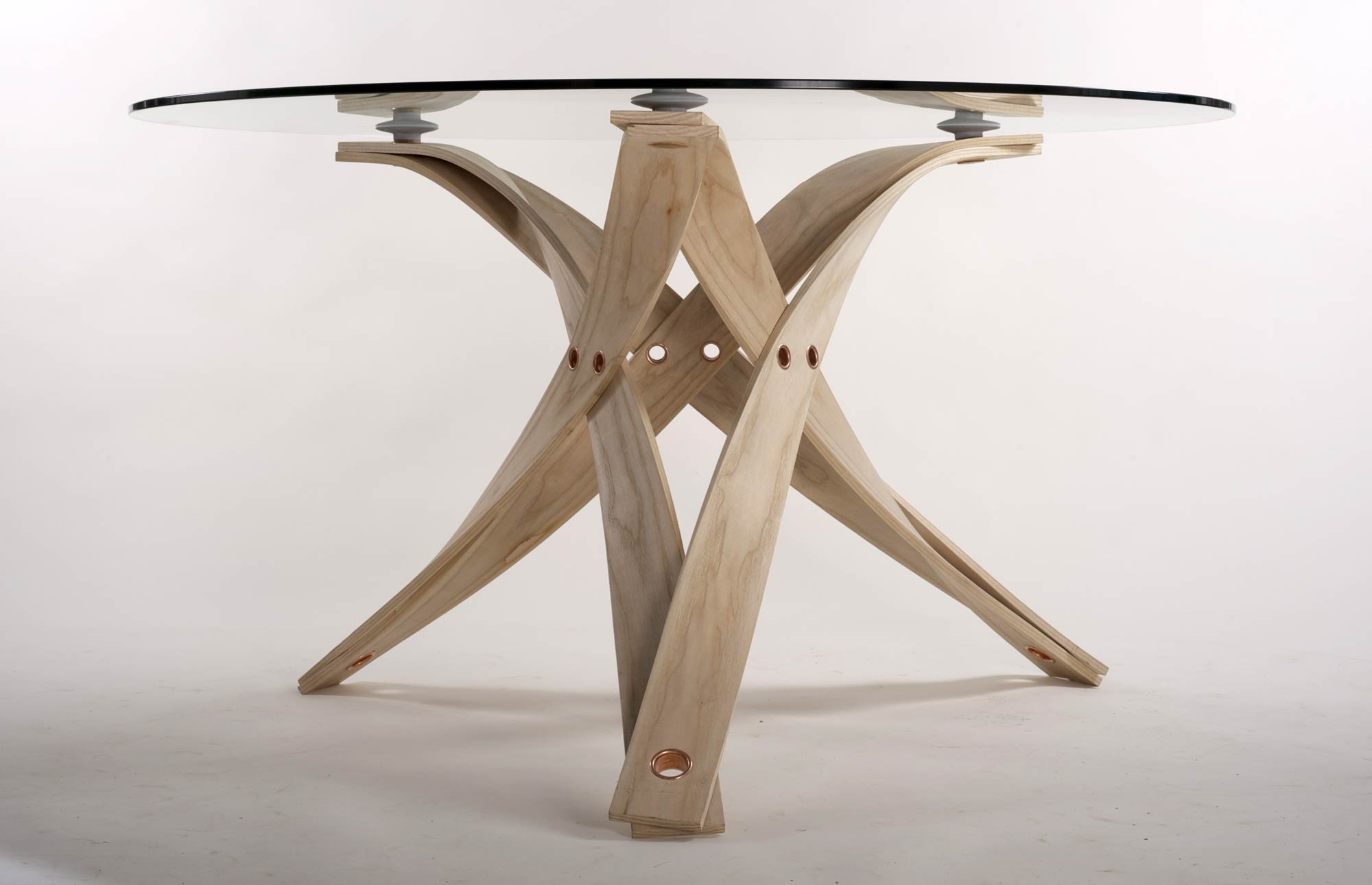 Dining Table In Steam Bent Ash Makers Eye