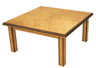 Handmade coffee Table in burr oak
