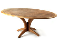 Oval Dining Table in burr oak