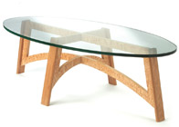 Bespoke Coffee Table in oak and masur birch