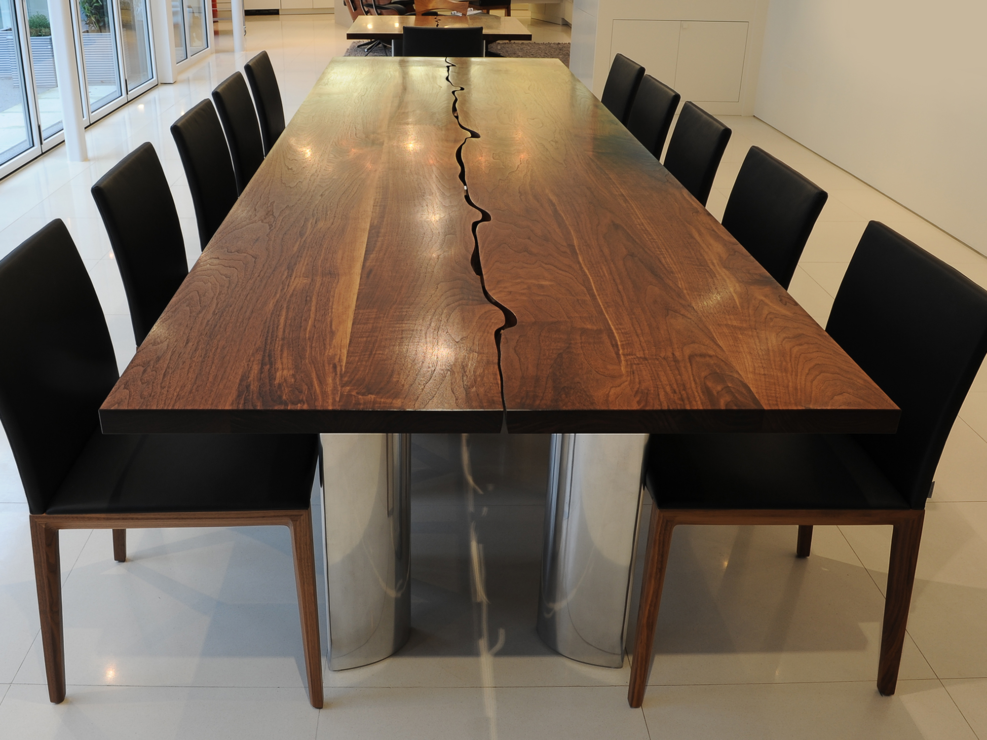 Bench Dining Tables: Bespoke Dining Or Conference Table In Solid Walnut