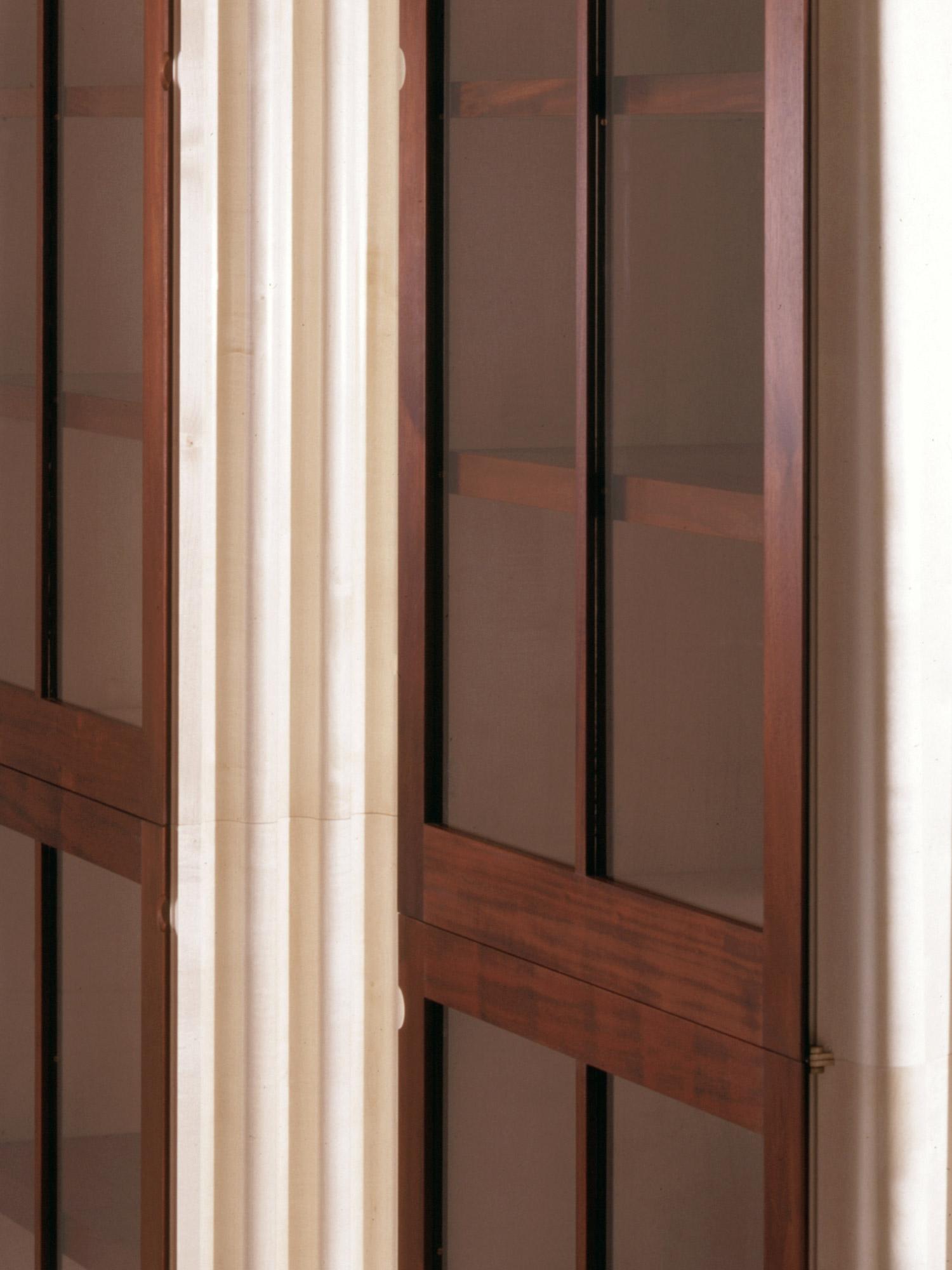 Tall Glazed Cabinets In Cuban Mahogany Makers Eye