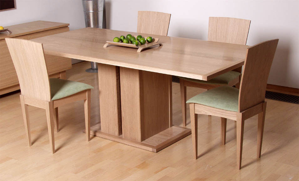 Bespoke Dining Table And Chairs In Oak Makers Eye