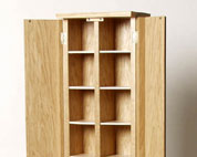 Bespoke CD or DVD cabinet in solid wood