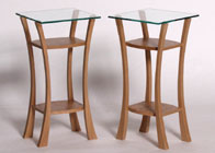 wine tables in oak & burr oak