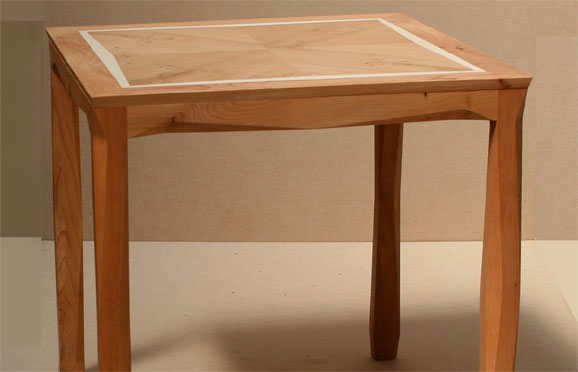 Bespoke Zig Zag Side Table In Yew And Holly Makers Eye