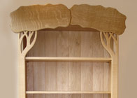 Bookcase in solid oak 'Tree'