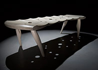 Carved bench in ash razorfish 111