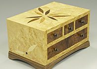 Bespoke jewellery box with four drawers