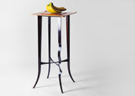 Side table or occasional table in pearwood & ebony