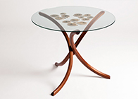 occasional table in walnut & laburnam