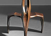 Chair in patinated bronze 'Kre'
