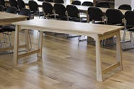 Dining table in solid oak