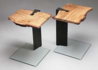 wedge side table
