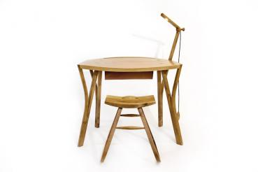 Writing Desk in steam bent oak