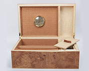 Humidor in burr elm