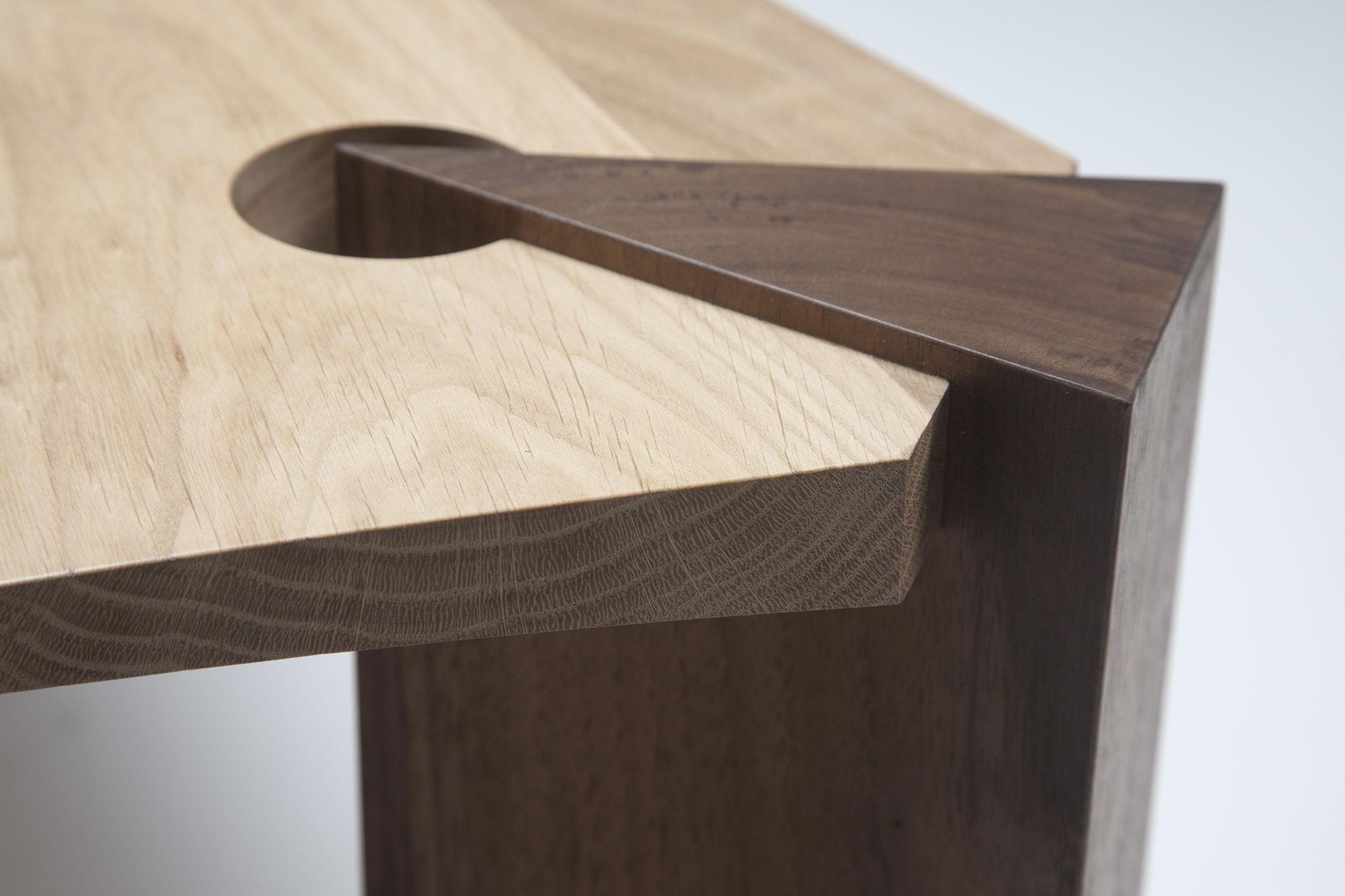 Coffee Table In Oak And Walnut Makers Eye