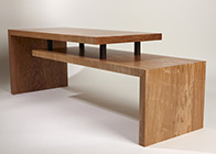 Coffee table in olive ash 'Stepped'