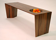 Coffee table ' Walnut bowl'