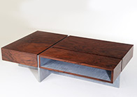 Coffee table with secret drawer