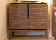 Art Deco inspired sideboard in walnut