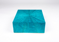 Starburst jewellery box in blue ripple sycamore