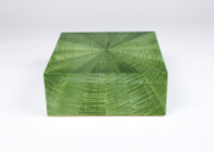 Starburst jewellery box in green ripple sycamore